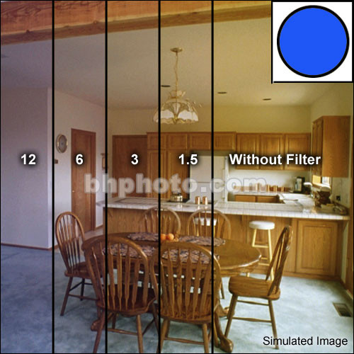 """Tiffen 5x6"""" Decamired Blue Set of Cooling Glass Filters"""