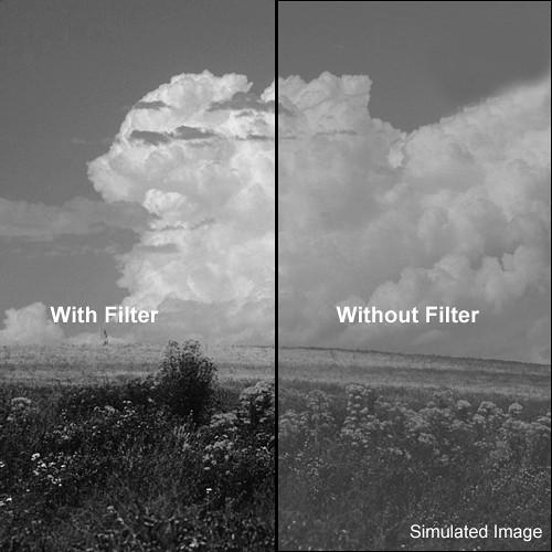 "Tiffen 5x6"" Deep Yellow #15 Glass Filter for Black & White Film"