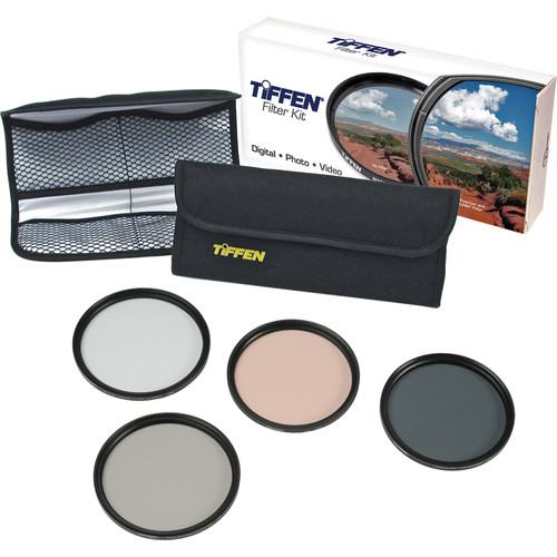 Tiffen 58mm Deluxe Enhancing Kit (Digital Ultra Clear, Enhancing, Circular Polarizing & 812 Color Warming Glass Filters)
