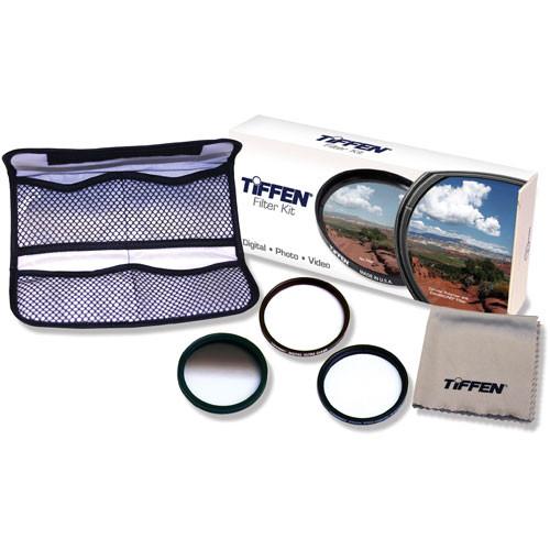 Tiffen 58mm Digital Pro SLR Glass Filter Kit - Contains Digital Clear Filter, Pro Mist 2 Soft Focus Filter and Graduated Neutral Density (ND) .6 Filter