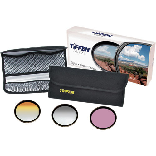 Tiffen 58mm Scenic Enhancement Kit 3 - Sunset Color Grad 2, Enhancing Filter, Color Grad ND .6 Filters