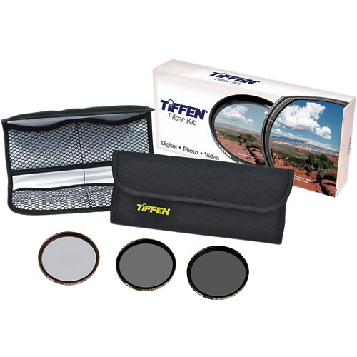 Tiffen 58mm DV Select Filter Kit 3 - Neutral Density 0.6, Circular Polarizing and Black ProMist 1/4 Filters