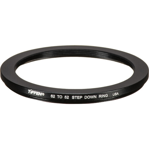 Tiffen 62-52mm Step-Down Ring (Lens to Filter)