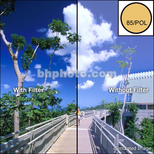"Tiffen 4 x 6"" 85 Linear Polarizer Filter"