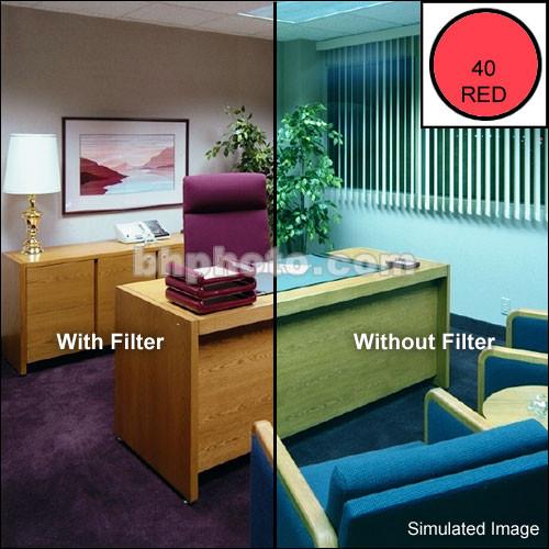 "Tiffen 4 x 6"" CC40R Red Filter"