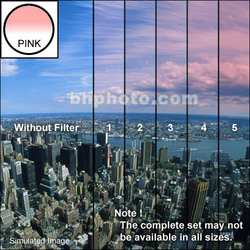 "Tiffen 4 x 6"" 5 Pink Soft-Edge Graduated Filter (Vertical Orientation)"