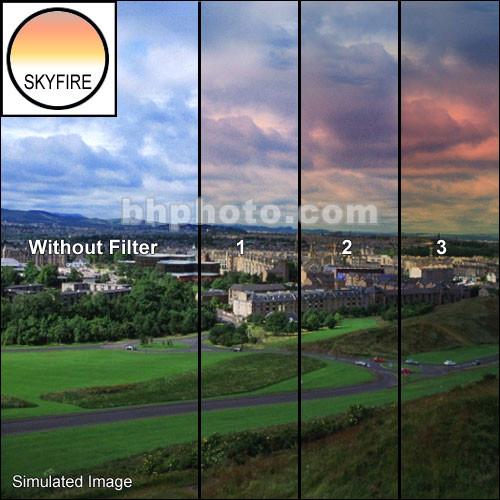 """Tiffen 4 x 6"""" 2 Skyfire Graduated Filter (Vertical Orientation)"""