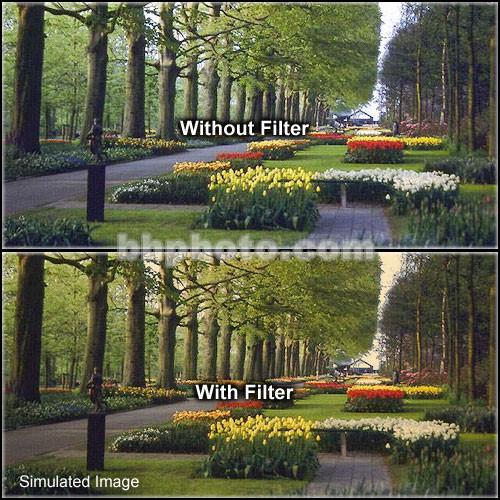 "Tiffen 4 x 6"" 1 Tangerine Hard-Edge Graduated Filter (Horizontal Orientation)"