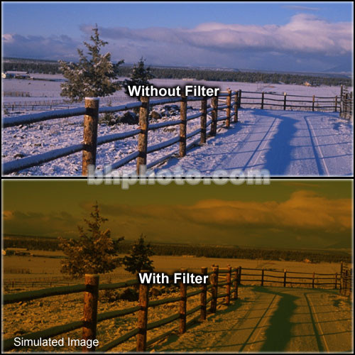 "Tiffen 4 x 6"" 3 Tobacco Hard-Edge Graduated Filter (Vertical Orientation)"