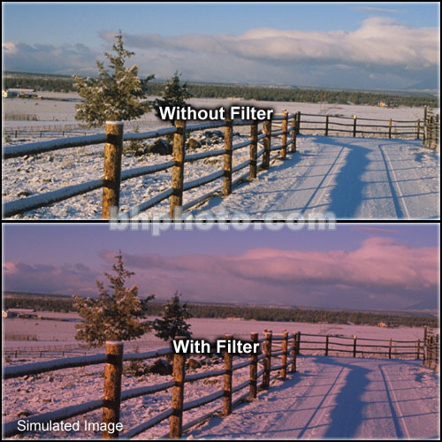 "Tiffen 4 x 6"" 1 Cranberry Solid Color Filter"