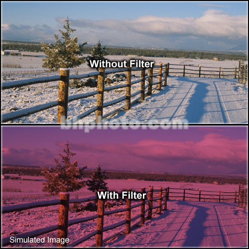 "Tiffen 4 x 6"" 2 Cranberry Solid Color Filter"