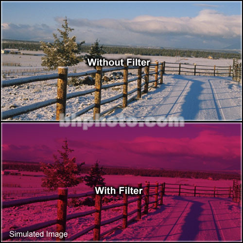 "Tiffen 4 x 6"" 3 Cranberry Solid Color Filter"