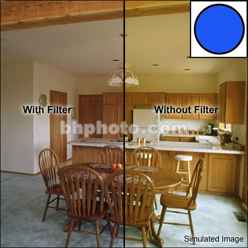 """Tiffen 6 x 4"""" Decamired Blue 1.5 Cooling  Glass Filter"""