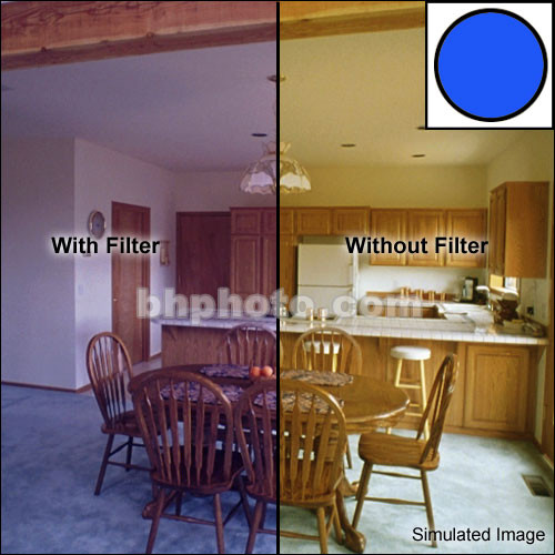 """Tiffen 6 x 4"""" Decamired Blue 12 Cooling  Glass Filter"""