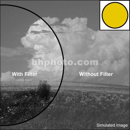 "Tiffen 4x6"" Deep Yellow 15 Glass Filter for Black & White Film"