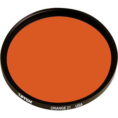 "Tiffen 4x6"" Orange #21 Glass Filter for Black & White Film"