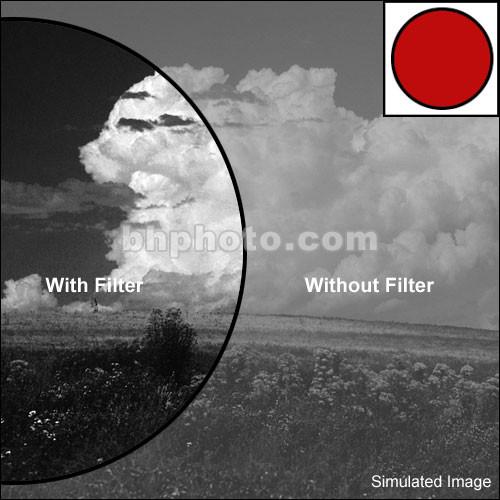 "Tiffen 4x6"" Dark Red #29 Glass Filter for Black & White Film"