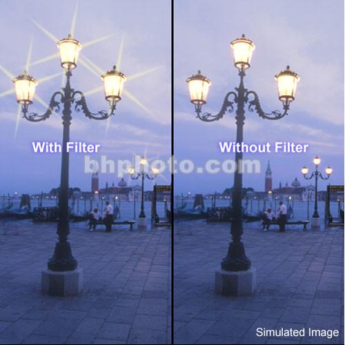 "Tiffen 6 x 4"" 6 Point/3mm Grid Star Effect Glass Filter"