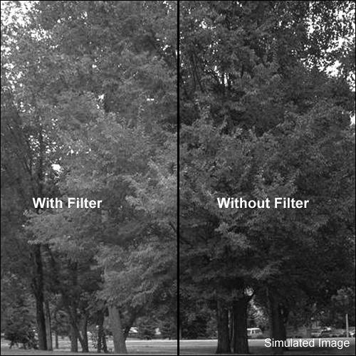 "Tiffen 6.6x6.6"" Green #58 Glass Filter for Black & White Film"