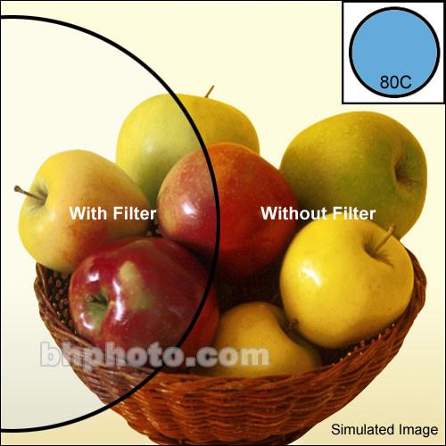 """Tiffen 6.6 x 6.6"""" 80C Color Conversion Filter"""