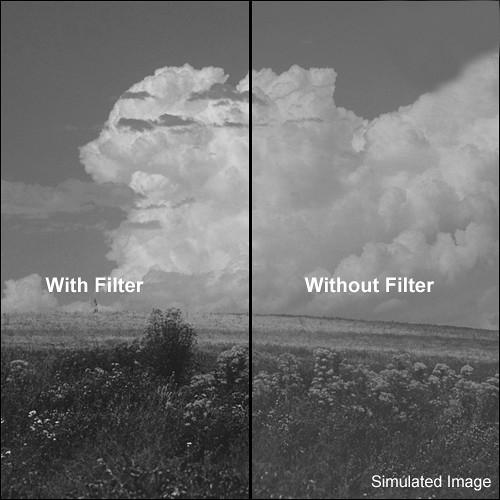 """Tiffen 6.6x6.6"""" Yellow 2 #8 Glass Filter for Black & White Film"""