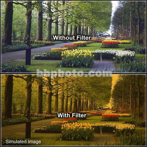 "Tiffen 6.6 x 6.6"" 3 Tangerine Hard-Edge Graduated Filter"