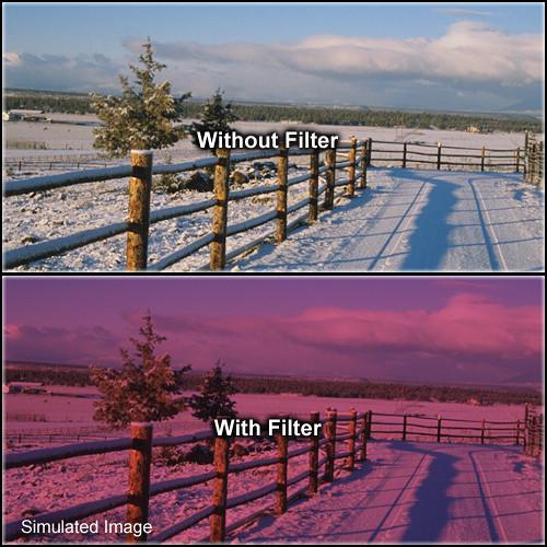 "Tiffen 6.6 x 6.6"" 2 Cranberry Solid Color Filter"
