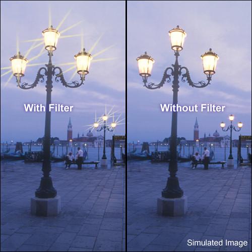 """Tiffen 6.6 x 6.6"""" Vector Star Effect Glass Filter"""