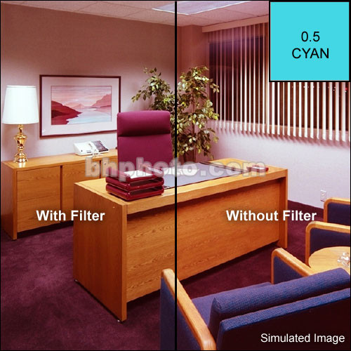"Tiffen 6 x 6"" CC05C Cyan Filter"