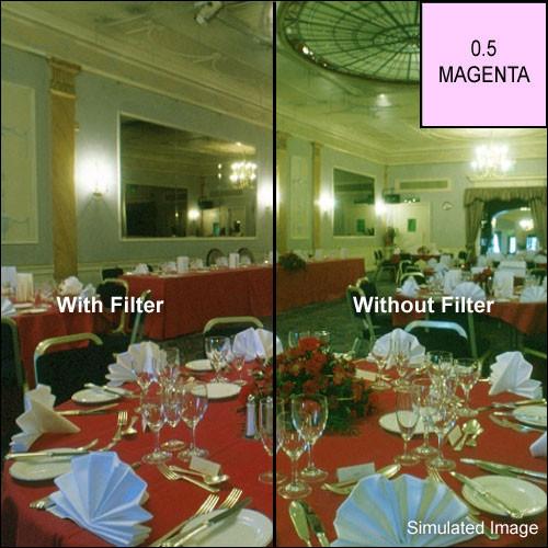 """Tiffen 6 x 6"""" CC05M Magenta Filter"""