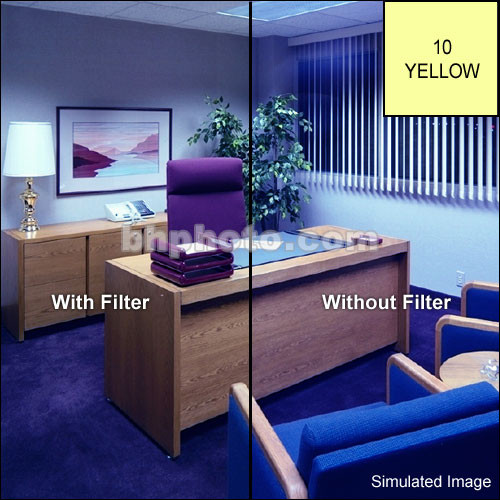 "Tiffen 6 x 6"" CC10Y Yellow Filter"