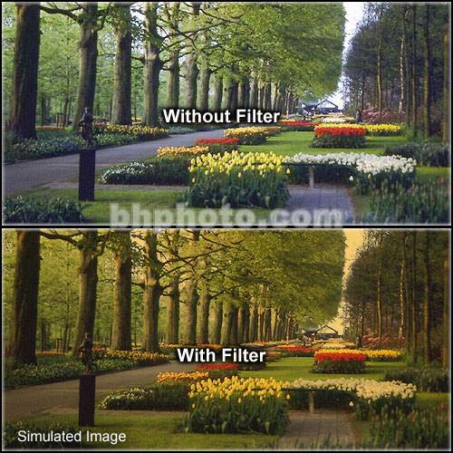 "Tiffen 6 x 6"" 2 Tangerine Hard-Edge Graduated Filter"