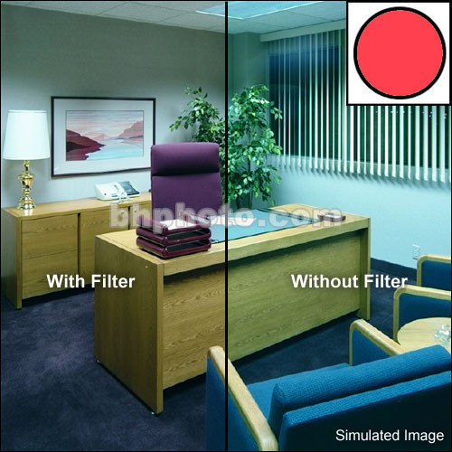 "Tiffen 6 x 6"" Decamired Red 1.5 Warming  Glass Filter"