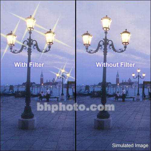 "Tiffen 6 x 6"" 4 Point/4mm Grid Star Effect Glass Filter"