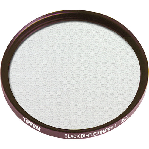 "Tiffen 6"" Round Black Diffusion/FX 1 Filter (Unmounted)"