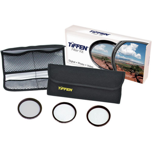 Tiffen 77mm Digital Video Film Look Kit 3 - Digital Diffusion F/X1, Soft F/X1 and Black ProMist 1/2 Filters