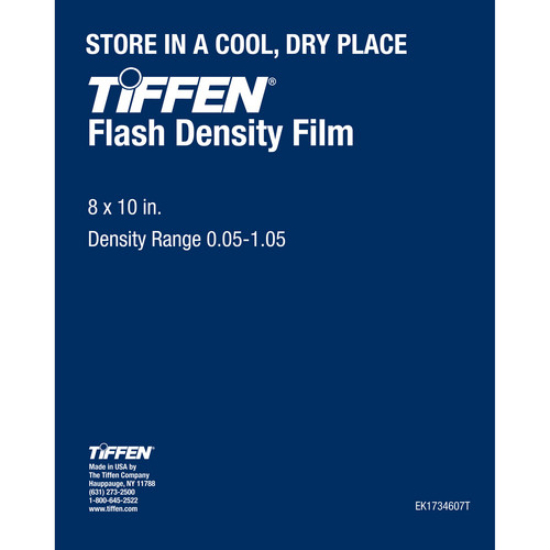 "Tiffen Flash Density Film (0.01-1.05, 8 x 10"", One Sheet)"