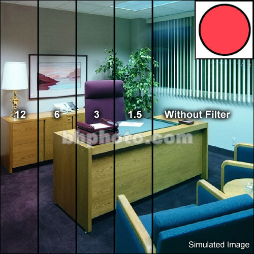 Tiffen Series 9 Decamired Red Color Conversion Glass Filters (Set of 4)