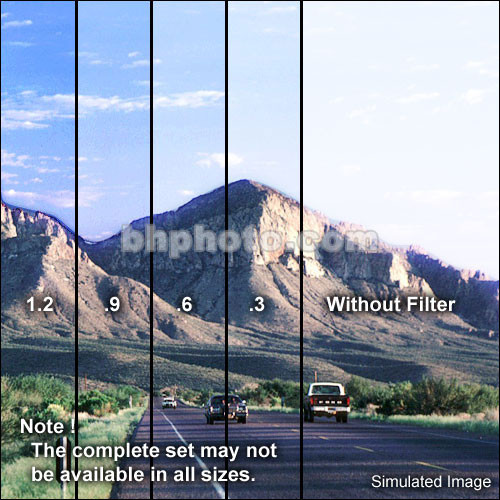"Tiffen 4 x 5.65"" Hard Edge Graduated 0.9 ND Filter (Vertical Orientation)"