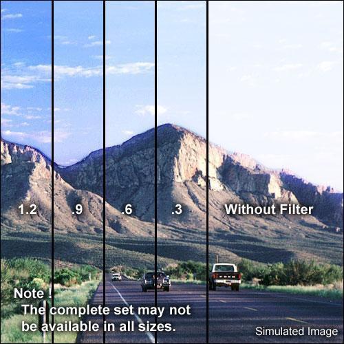 "Tiffen 5.65 x 5.65"" Soft Edge Graduated 0.9 ND Filter"