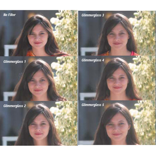 "Tiffen 6.6 x 6.6"" Black Glimmer Digital Diffusion/FX 1/2 Filter"