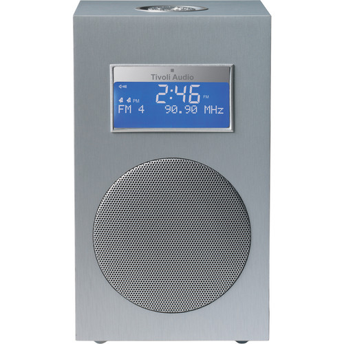 Tivoli Model 10 Clock Radio - Contemporary Collection (Light Aluminum / Silver)