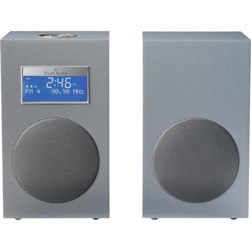 Tivoli Model 10 AM/FM Stereo Clock Radio - Contemporary Collection (Light Aluminum / Silver)