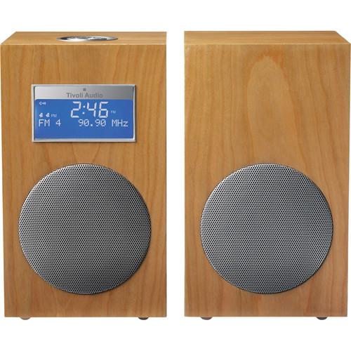 Tivoli Model 10 AM/FM Stereo Clock Radio - Contemporary Collection (Cherry / Silver)