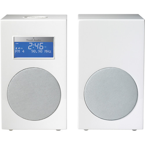 Tivoli Model 10 AM/FM Stereo Clock Radio - Designer Collection (Frost White / White)