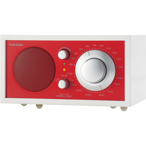Tivoli Frost White Collection Model One AM/FM Table Radio (Frost White and Ember Red)