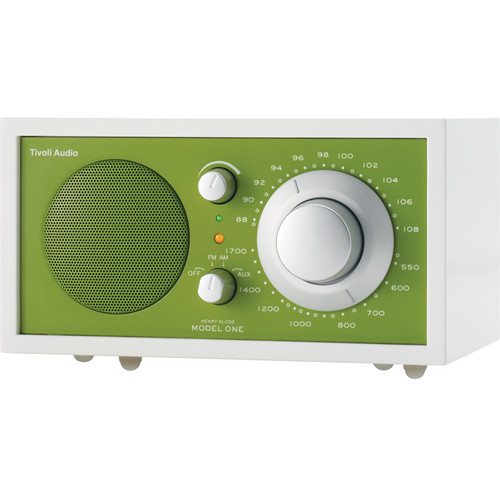 Tivoli Frost White Collection Model One AM/FM Table Radio (Frost White and Kelly Green)
