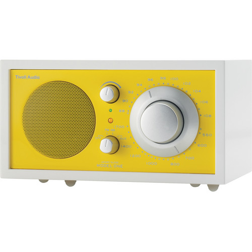 Tivoli Frost White Collection Model One AM/FM Table Radio (Frost White and Sunflower Yellow)