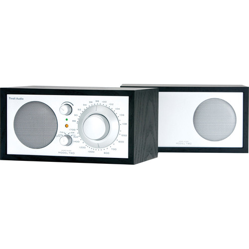 Tivoli Model Two AM/FM Stereo Table Radio (Black and Silver)
