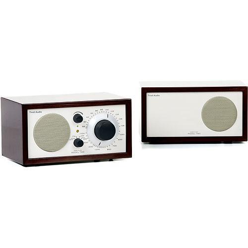 Tivoli Model Two Platinum Series AM/FM Stereo Table Radio (Dark Walnut and Beige)